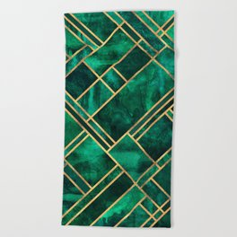 Emerald Blocks Beach Towel