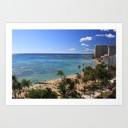 Waikiki Hawaii Art Print