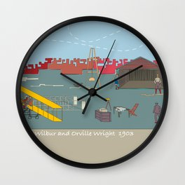 Wilbur and Orville Wright, 1903 (c) Wall Clock
