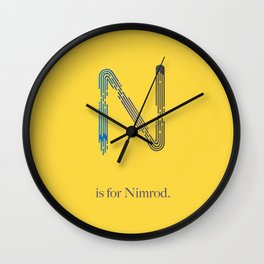 N is for Nimrod Wall Clock