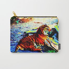 Relaxing Tiger Bright Carry-All Pouch