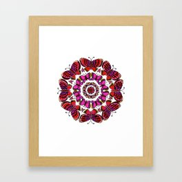 Butterfly Mandala Framed Art Print