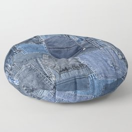 Blue Jeans Pocket Patchwork Pattern Floor Pillow