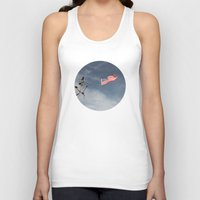 flag Tank Tops featuring Flag by Nick De Clercq