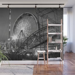 Amusement Park Fun at Night Wall Mural