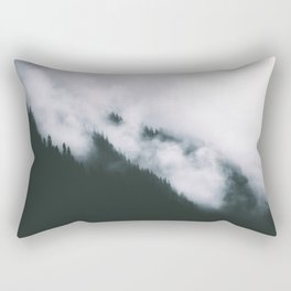 Forest Fog XIII Rectangular Pillow