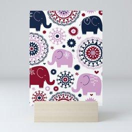 Suzani Elephats Mini Art Print