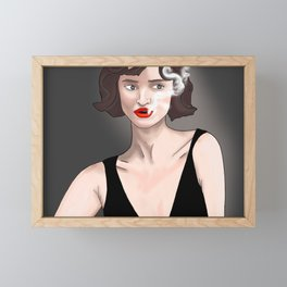 Smoke Break Framed Mini Art Print