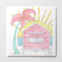 Beach Shack Vibes Metal Print