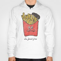 french fries Hoodies featuring French Fries by Picomodi