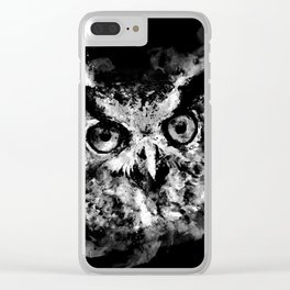 owl perfect black white Clear iPhone Case