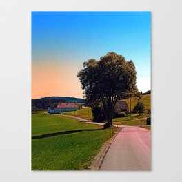A tree, a road and summertime Canvas Print