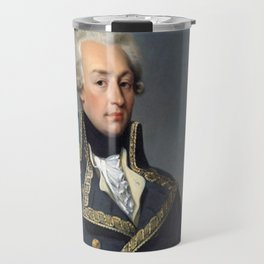 Portrait of Lafayette by Joseph désiré Court Travel Mug