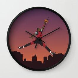 Air Jordan Jumpman Dunk Sunset Wall Clock