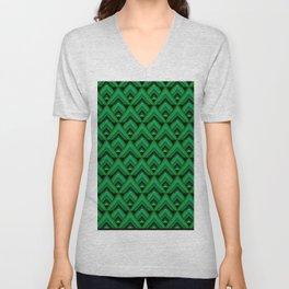Green Leaves Triangle Unisex V-Neck