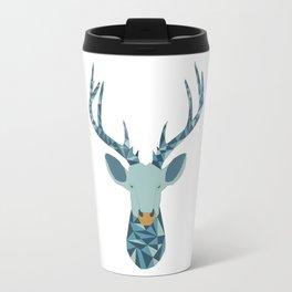 Geometric stag head Travel Mug