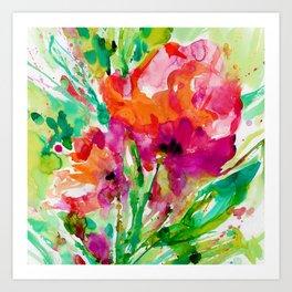 Blooming Joy No.1b by Kathy Morton Stanion Art Print