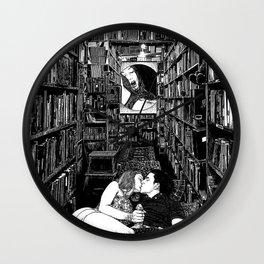 asc 978 - L'alphabet d'arrière-boutique (The back room lesson) Wall Clock