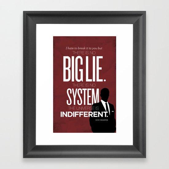 Mad Men Typographic poster Framed Art Print