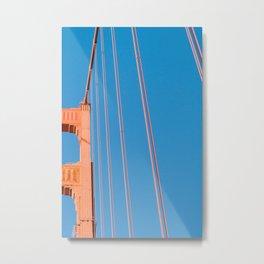 that sf bridge Metal Print