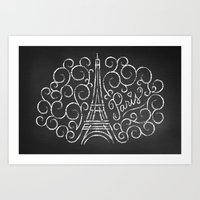 Paris Sketch Art Print