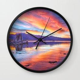 Mono Lake Sunset Wall Clock