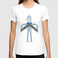 bender T-shirts featuring Pixel Bender by Paul Scott (Dracula is Still a Threat)