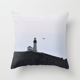 Yaquina Head/ Coast Guard Throw Pillow