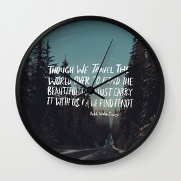 Road Trip Emerson Wall Clock