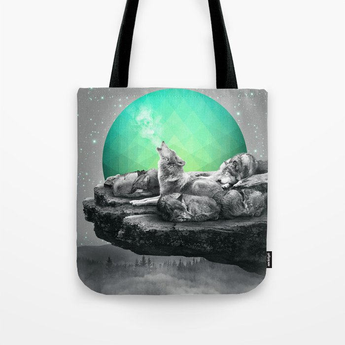 Echoes of a Lullaby / Geometric Moon Tote Bag