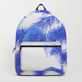 Blue Palm Paradise Backpack