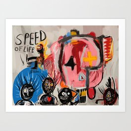 """The speed of life"" Street art graffiti and art brut Art Print"