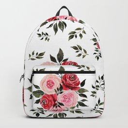 Vintage Rose Pattern Backpack