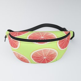 Pink Grapefruit Slices Pattern Fanny Pack