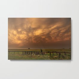 Afterglow - Clouds Glow After Storms at Sunset Metal Print