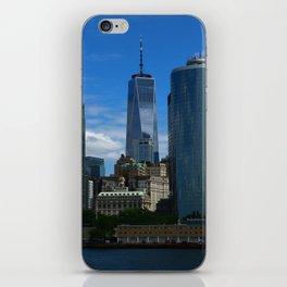 Manhattan View From Hudson River iPhone Skin
