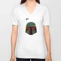 boba fett V-neck T-shirts featuring Boba Fett by Some_Designs