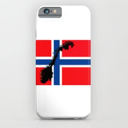 Norwegian Flag with Map of Norway iPhone Case