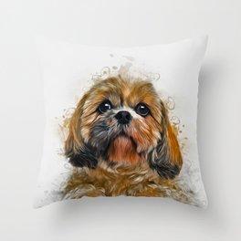 Shih Tzu Art Throw Pillow