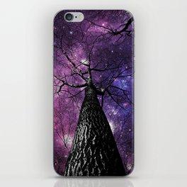 Wintry Trees Deep Purple Galaxy Skies iPhone Skin