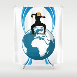 Dance on the Earth Shower Curtain