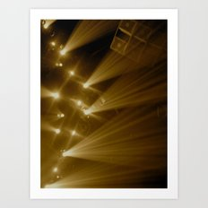 Flashing Lights Art Print