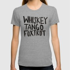 Whiskey Tango Foxtrot X-LARGE Tri-Grey Womens Fitted Tee