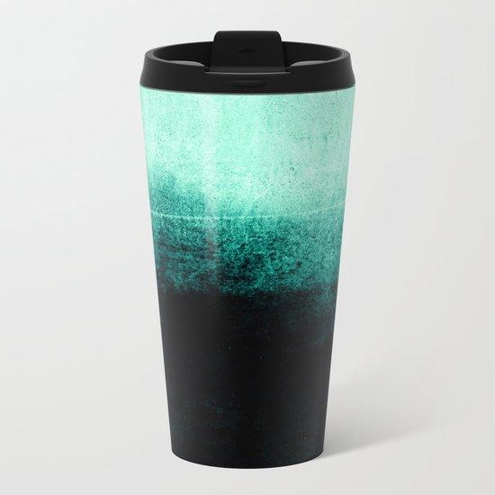 into the deep green Metal Travel Mug