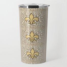 Fleur de crackle Travel Mug