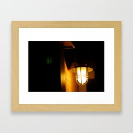 Yellow streetlight Framed Art Print