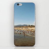 santa monica iPhone & iPod Skins featuring Santa Monica  by Audrey Mourgues