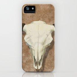 Bison Skull with Rose Rocks iPhone Case