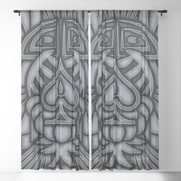 Ace of Tribes IRON Sheer Curtain