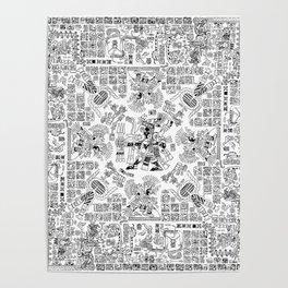 Mayan Spring B&W Poster